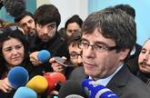 El ex president Carles Puigdemont atiene a la prensa desde Bruselas el...