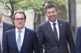 Artur Mas y Josep Maria Bartomeu, en un acto celebrado en la...