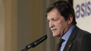 Javier Fernández, presidente del Principado, el pasado día 23 en un...