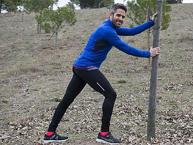 Roberto Leal, presentador de OT; corre en su barrio en Sanchinarro,...