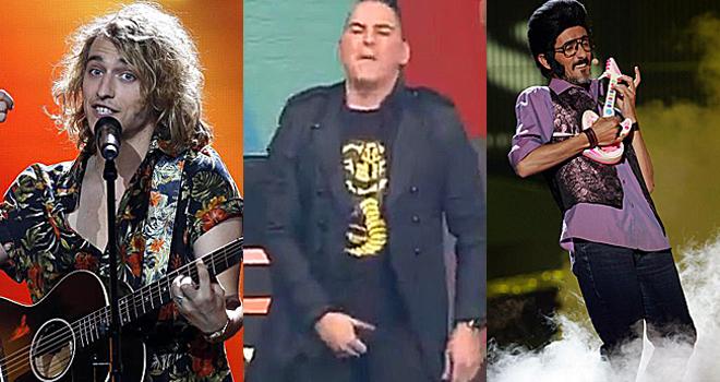 Los polémicos Manel Navarro, John Cobra y el Chiquilicuatre.