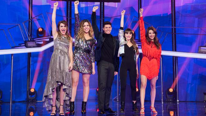 Los cinco finalistas de 'Operación Trunfo'.