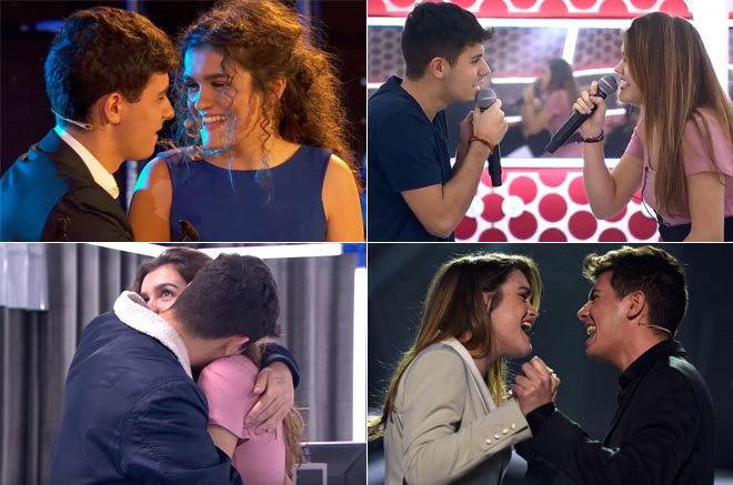 Amaia y Alfred en diferentes momentos de Eurovisión