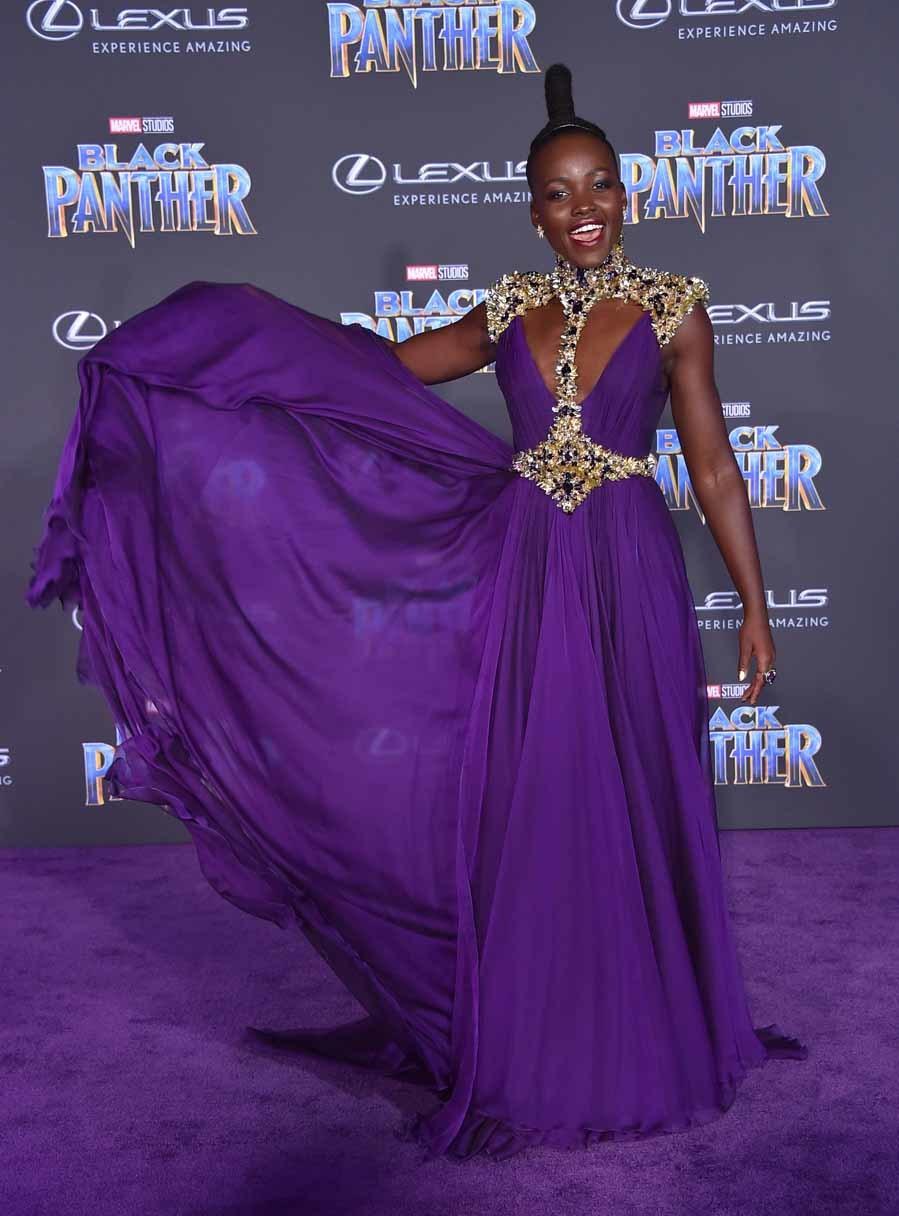 La actriz, que interpreta a una guerrera en la película de Marvel,...
