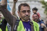 Juan Carlos Monedero, en la manifestación por el aniversario del 15M.