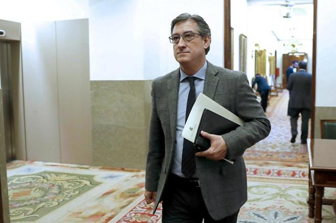 El diputado de Ciudadanos Ignacio Prendes, este martes en el Congreso.
