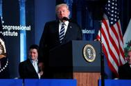 Donald Trump durante su intervención en el congreso del Partido Republicano en West Virginia.
