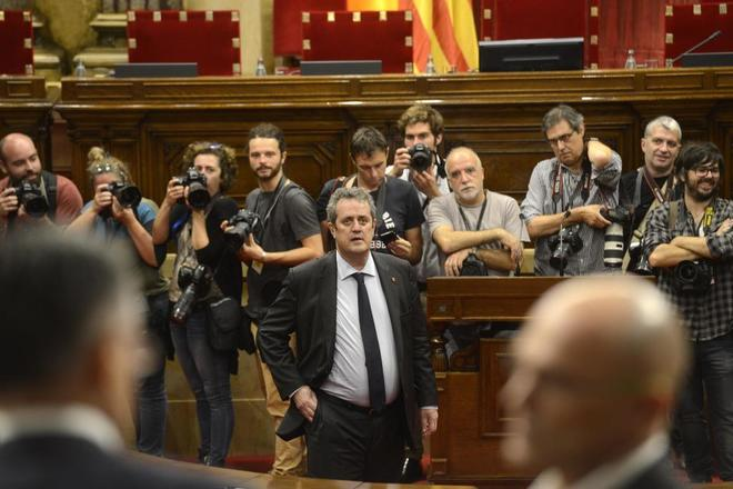 El ex consejero de Interior Joaquim Forn, en el Parlament el pasado...