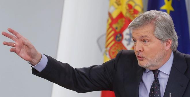 El portavoz del Gobierno, Íñigo Méndez de Vigo, en rueda de prensa tras el Consejo de Ministros.