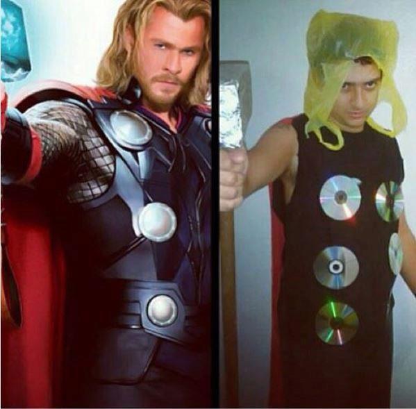 Quería parecerse a Thor... pero no.