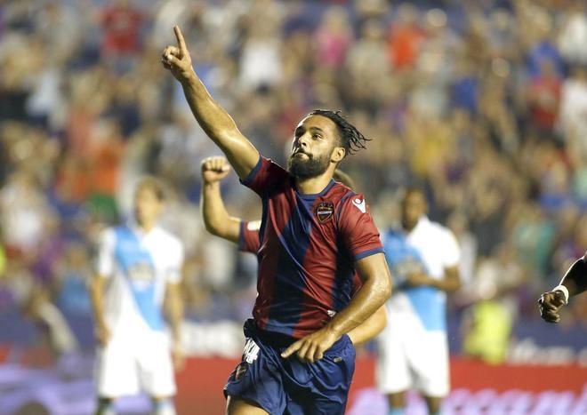 'Ivi', celebrando un gol esta temporada.