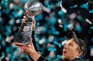 Nick Foles celebrando la victoria en la Super Bowl 2018