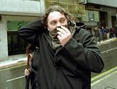 Sito Miñanco, saliendo de la Audiencia de Pontevedra en 2001 tras...
