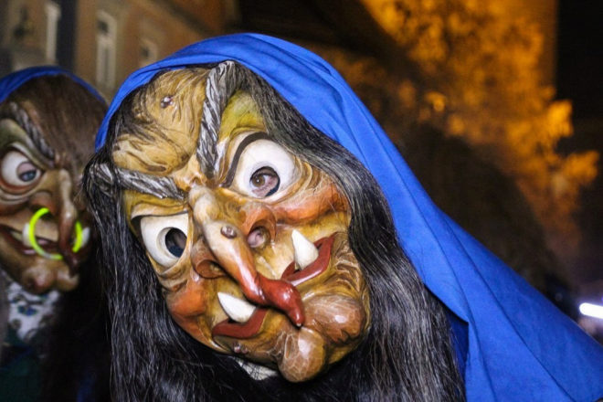 Imagen de uno de los disfraces dedicados a la brujería en Eppingen