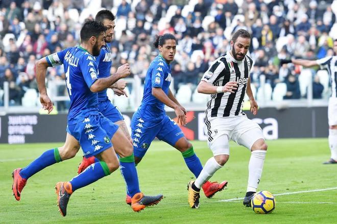 Partido entre la Juventus FC y el US Sassuolo.