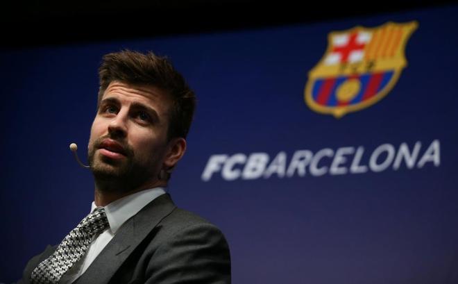 Piqué, tras su renovación con el Barcelona.