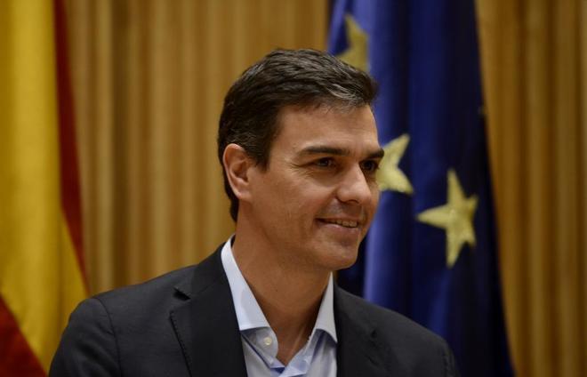 El secretario general del PSOE, Pedro Sánchez, en la reunión de su...