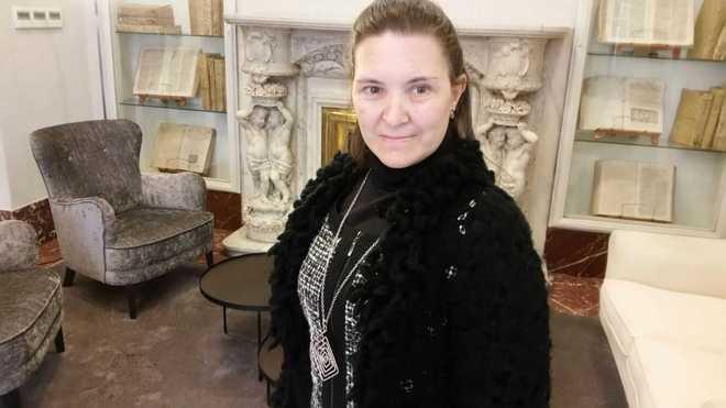 Almudena Martín, una mujer con discapacidad intelectual, que ha dado...