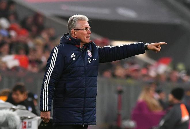 Heynckes, durante un partido reciente del Bayern.
