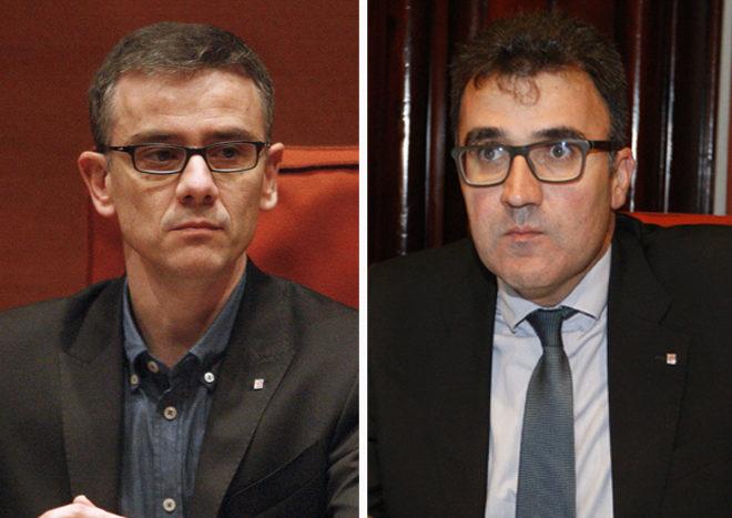 A la izquierda, Josep Maria Jové y a la derecha, Lluís Salvadó