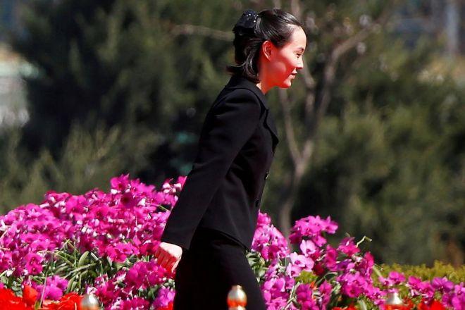 Kim Yo-jong, durante una ceremonia en Pyongyang.