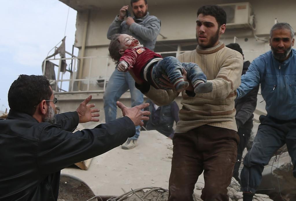 El número de muertos por los bombardeos de ayer en Guta Oriental...