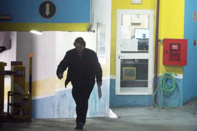 José Ramón Prado Burgallo, en el aparcamiento de Algeciras donde...