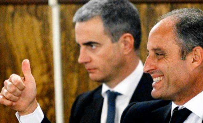 Camps y Costa en el juicio de los trajes dentro de la trama 'Gürtel'.