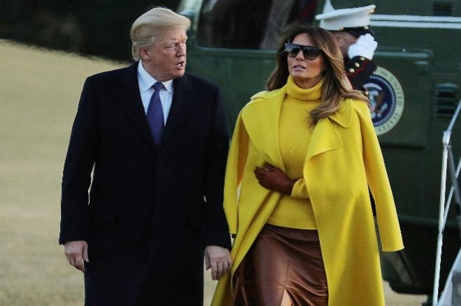 El presidente y la primera dama después de pasar el día en...