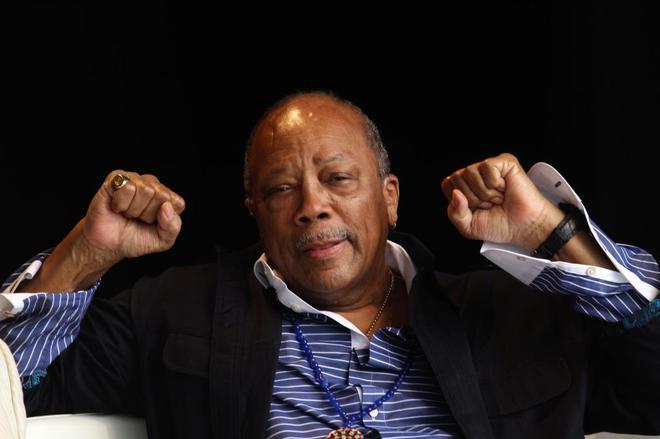 El productor musical Quincy Jones, durante el Festival de Peralada del...