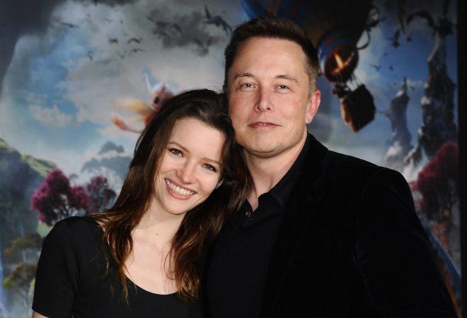 Elon Musk y su segunda esposa, Talulah Riley.