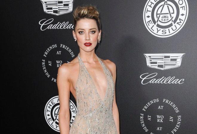 La actriz Amber Heard, su última novia conocida.