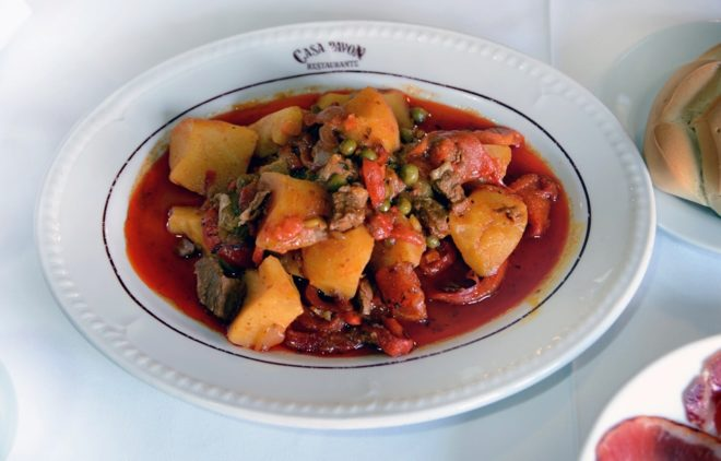 Calderillo, el plato típico de Béjar.