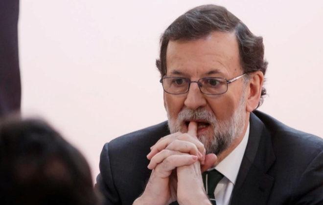 El presidente del Gobierno, Mariano Rajoy, ayer en Madrid.