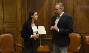 Los portavoces de Podemos y Ciudadanos en el Congreso, Irene Montero y...