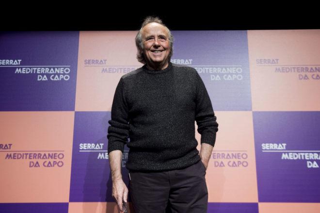 Joan Manuel Serrat, durante la presentación de su disco.