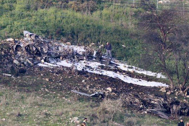 Cae un avión israelí en operación militar contra objetivos iraníes en Siria