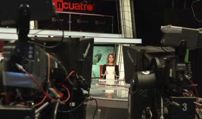 Carme Chaparro, en el plató de 'Noticias Cuatro mediodía'.