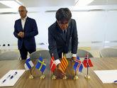 El ex presidente de la Generalitat, Carles Puigdemont, en un viaje a...