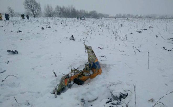 Primeras imágenes del avión estrellado en Rusia