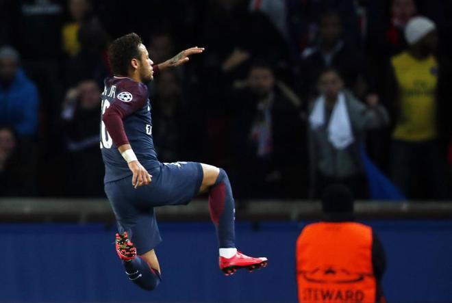 Neymar, tras marcar en Champions ante el Anderletch.
