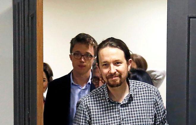 Pablo Iglesias e Íñigo Errejón, en un acto reciente en Madrid