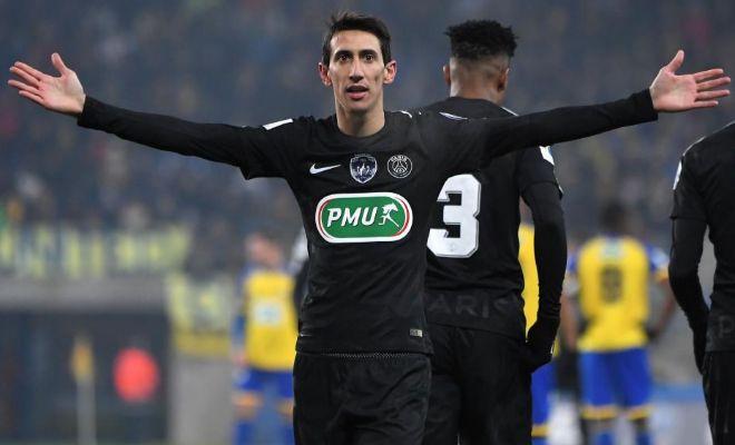 Ángel Di Maria celebra un gol ante el Sochaux.