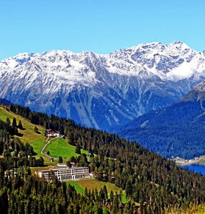Escenarios en Davos de 'La Montaña Mágica' de Thomas Mann.