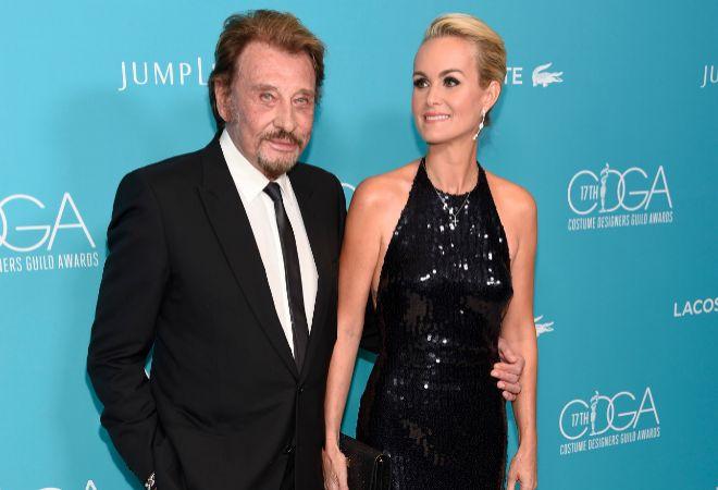 Johnny Hallyday y su mujer, en una imagen de archivo.