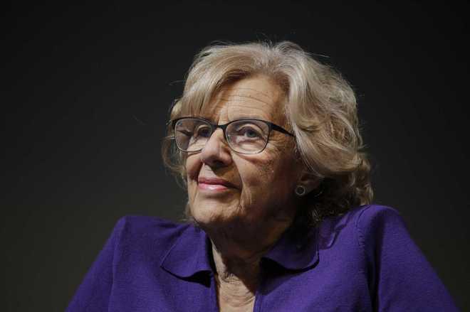 Manuela Carmena, alcaldesa de Madrid y concejal de Cultura.