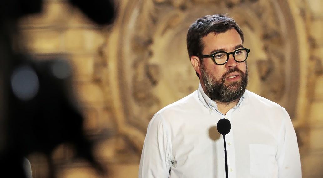 El alcalde catalanista de Palma, Antoni Noguera, el pasado mes de...