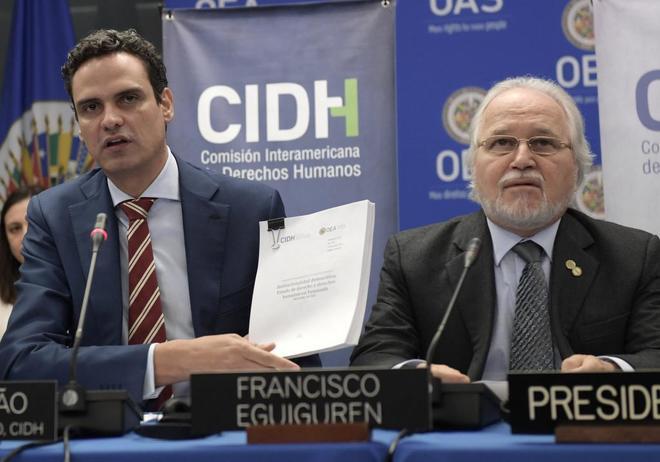 El secretario general de la CIDH, Paulo Abrão, presenta su informe en Washington.