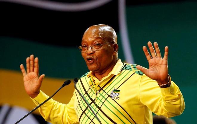 El presidente sudafricano, Jacob Zuma, durante la 54 Conferencia Nacional del ANC, en 2017.
