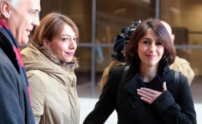 Juana Rivas, el pasado 7 de febrero, en los juzgados de Granada.